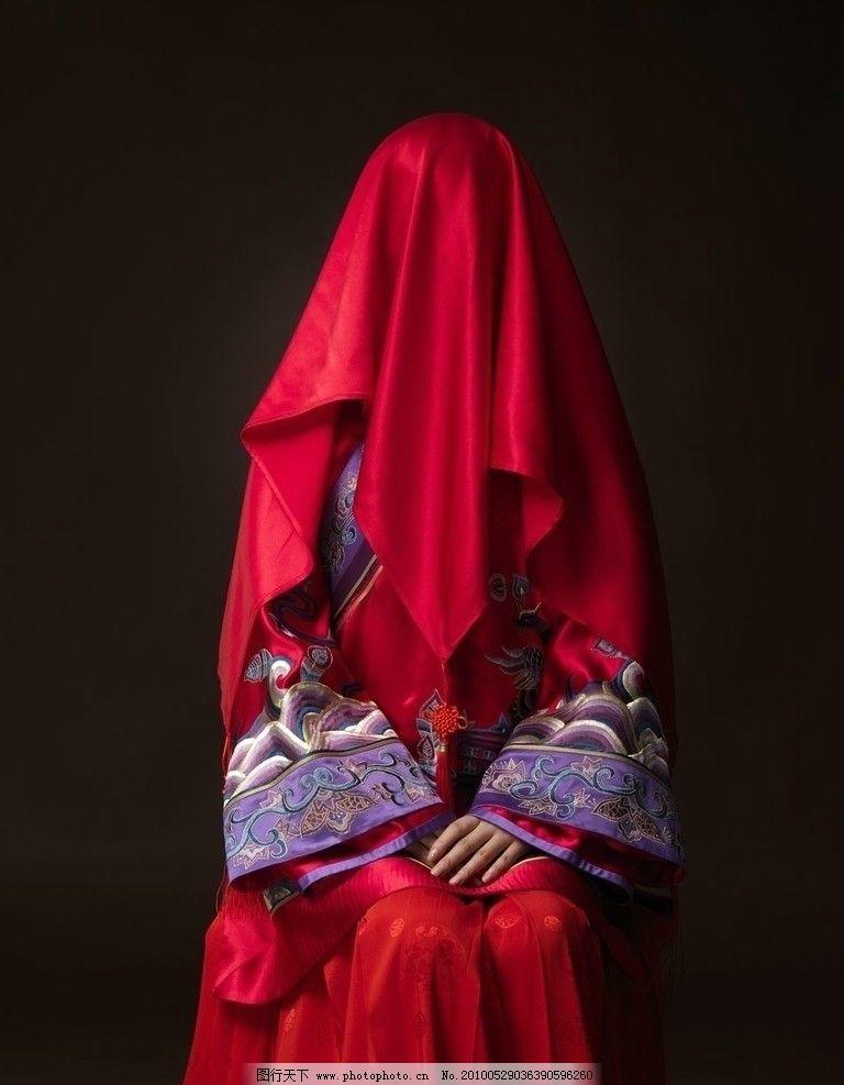 江一燕 红色 红盖头图片