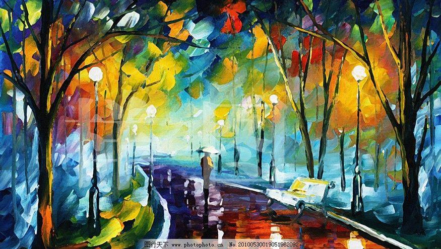 树叶贴画人物风景