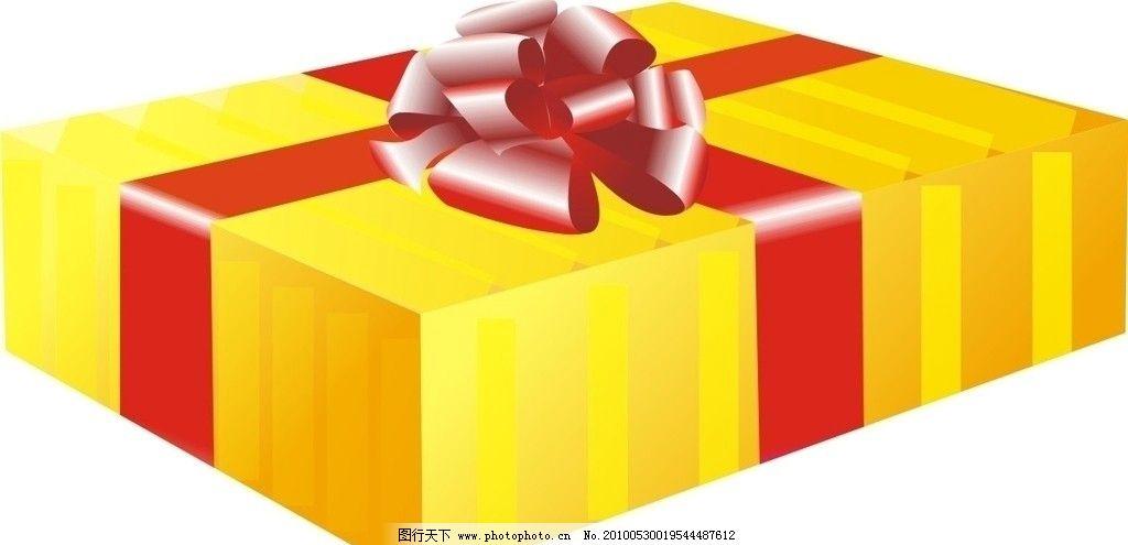 礼品盒 金色 丝带 节日素材 矢量