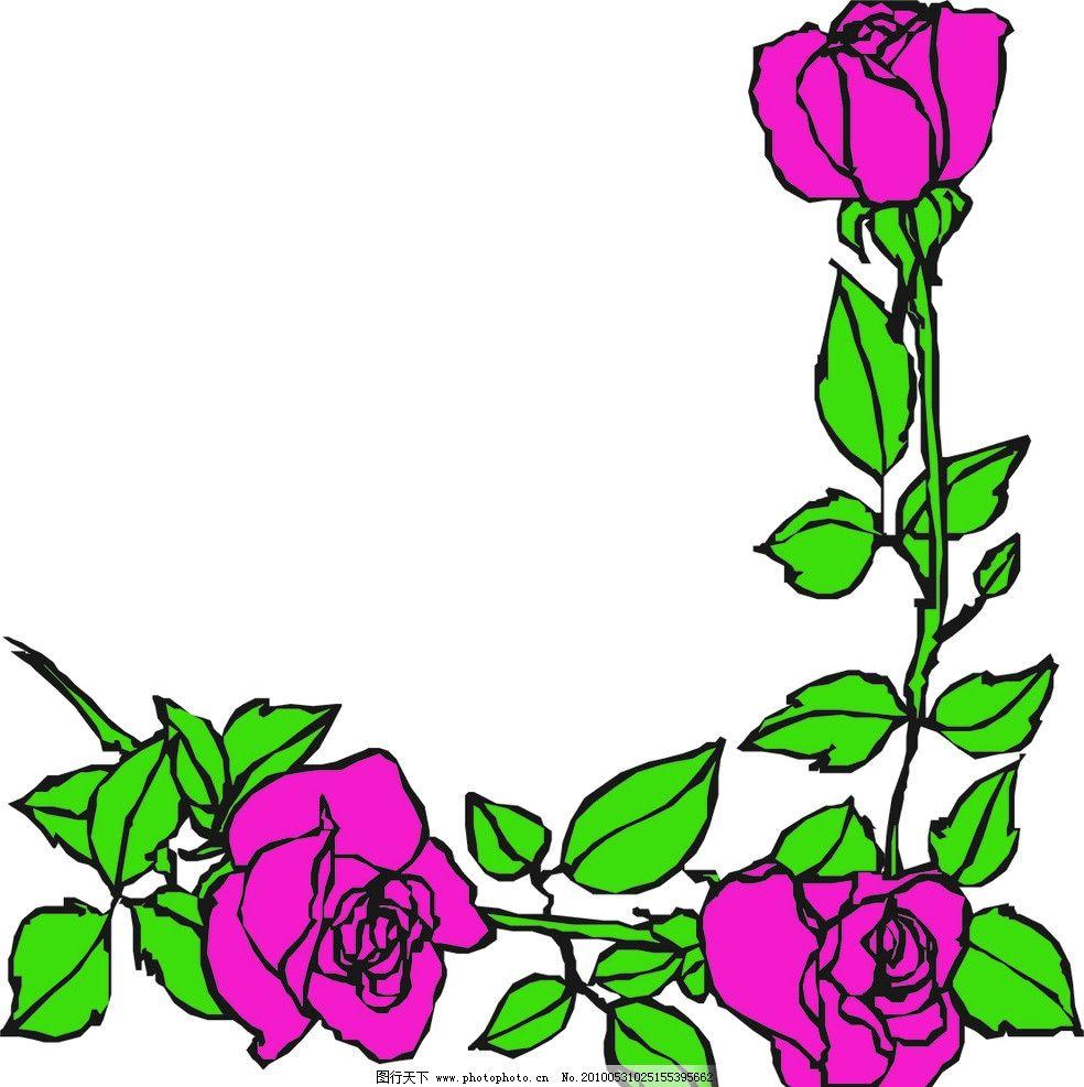 玫瑰 矢量 花 花朵 玫瑰花 玫瑰花朵 一枝花 花草 生物世界 cdr