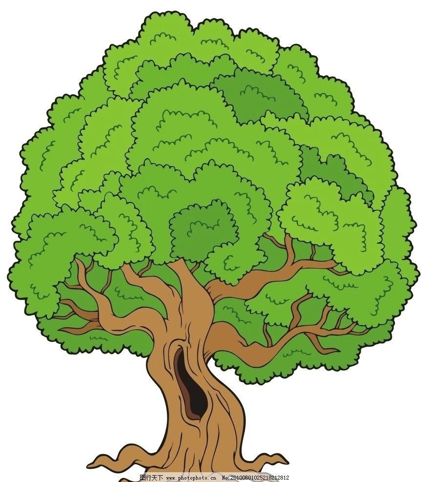 丛林树木矢量图