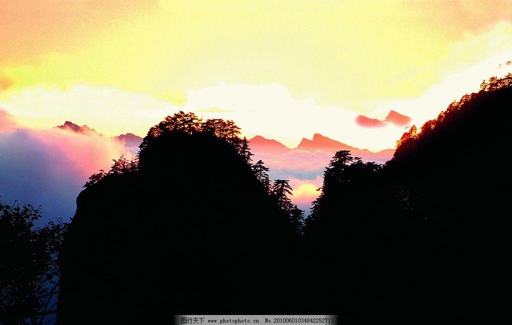 白云山 云朵 云彩 天空 蓝天 青山 雾 仙境 嵩县风景 自然风景