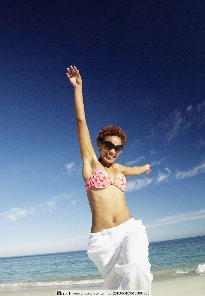 国外摄影 外国 国外 男人 女人 摄影 海滩 阳光 笑容 笑 笑脸 青春