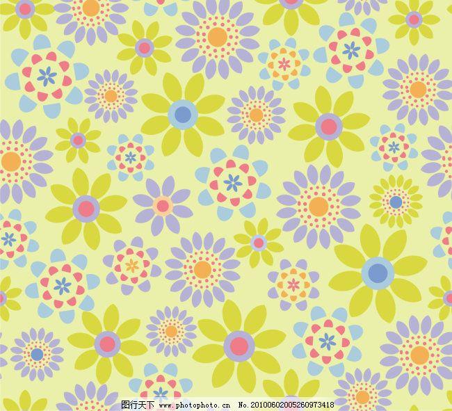 矢量免费下载 底纹 素材 小花 底纹 矢量 素材 小花 矢量图 花纹花边