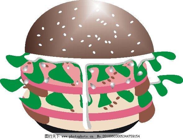 汉堡设计图 汉堡设计图免费下载 面包 矢量图 广告设计