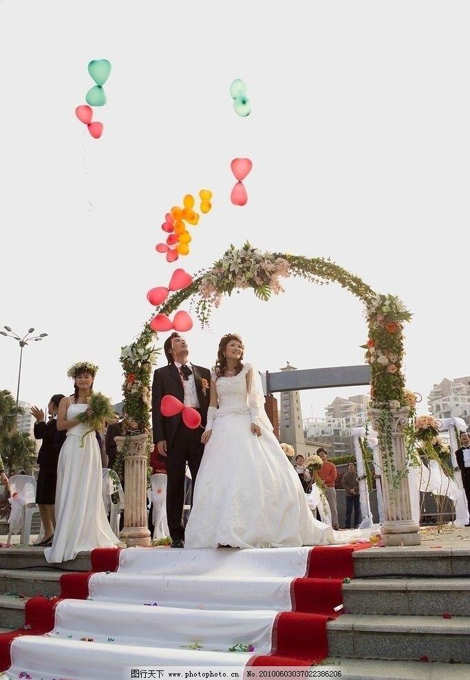 游轮婚礼 油轮婚礼 气球放飞 地毯 鲜花拱门 户外婚礼 上海游轮婚礼