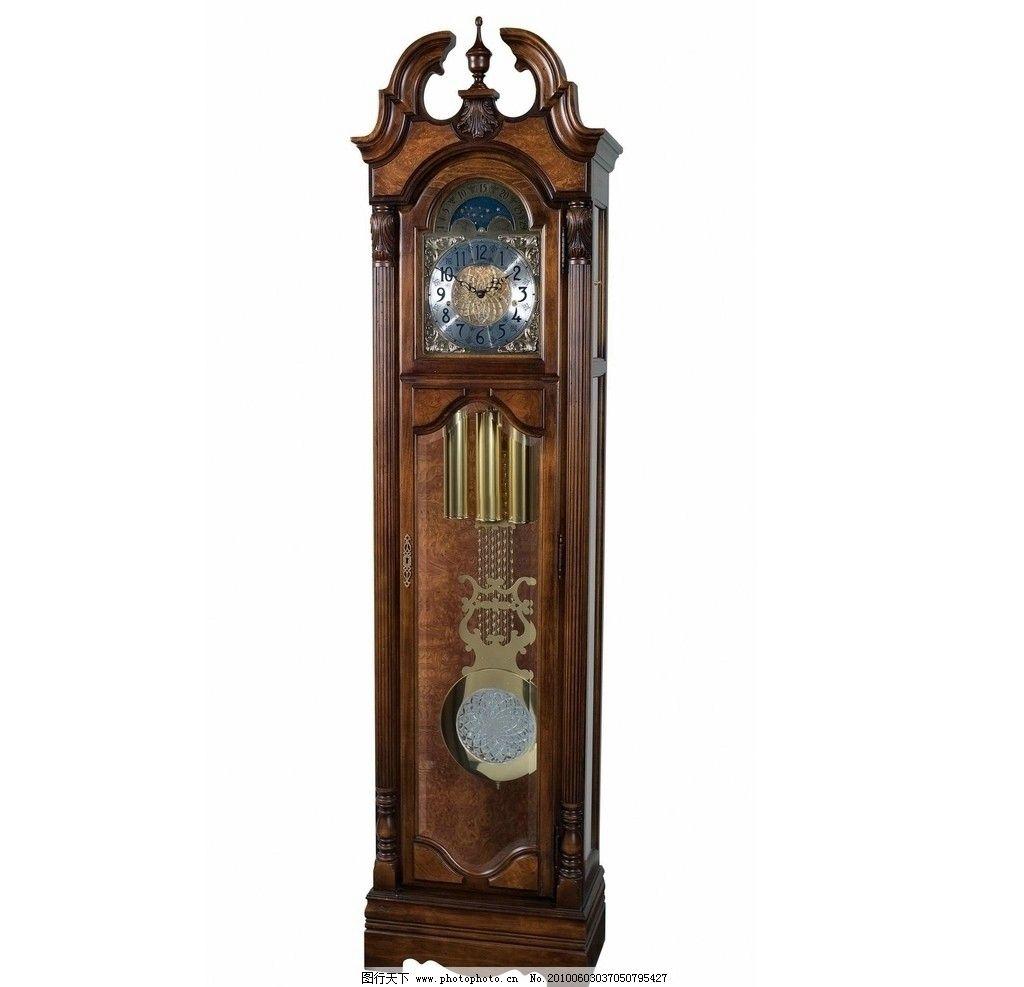 座钟 计时 欧式 老式 大钟 钟表 生活素材 摄影图片