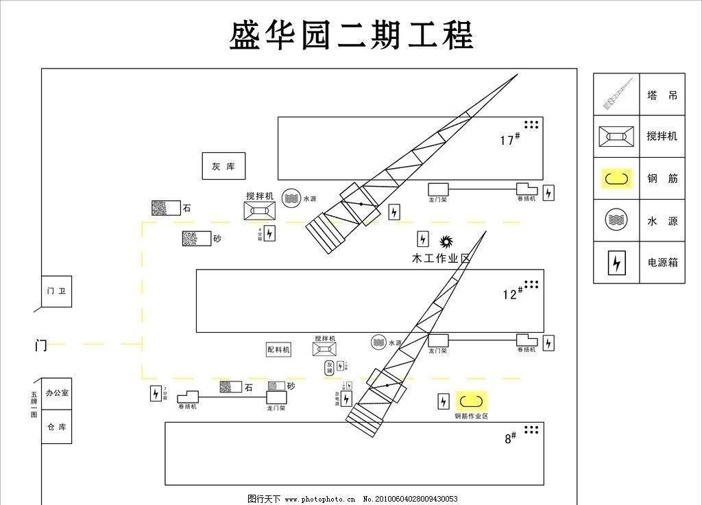 工地施工平面图图片