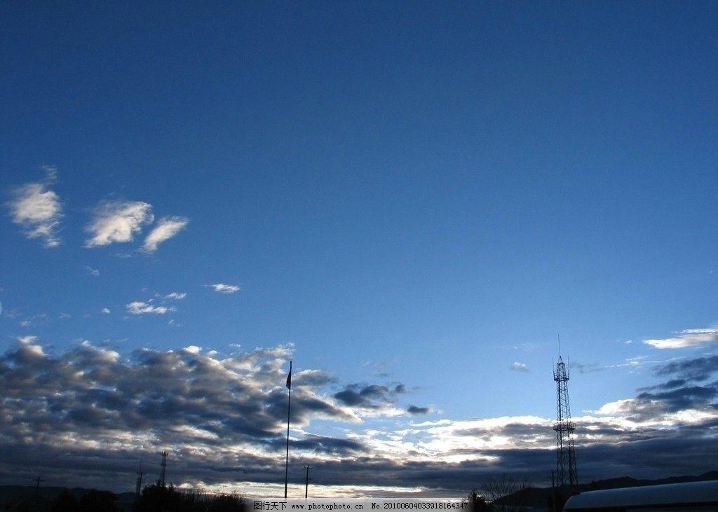 西藏风景 西藏 蓝天白云 藏族 早上 天空 高原 蓝天 白云 山水风景