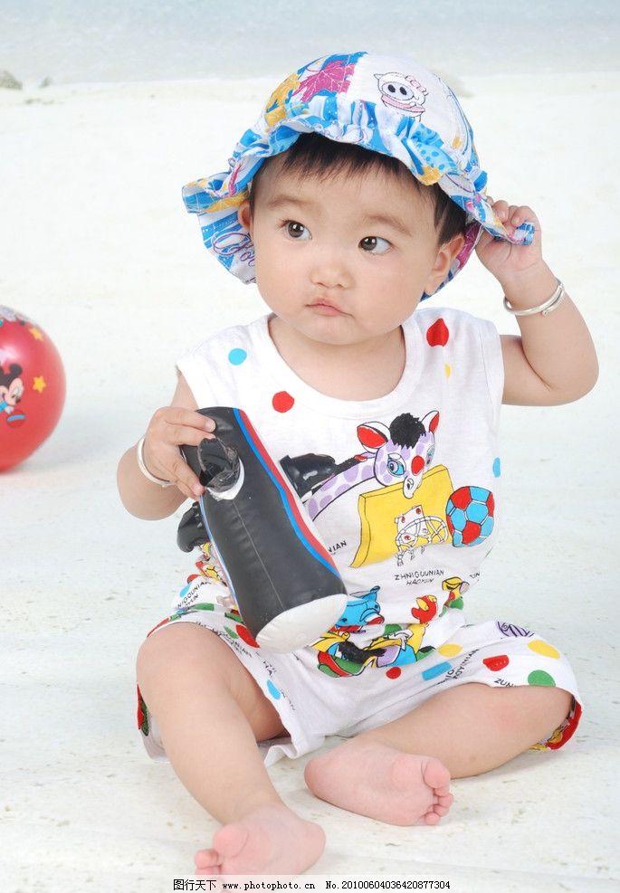 戴帽子的宝宝 可爱小孩