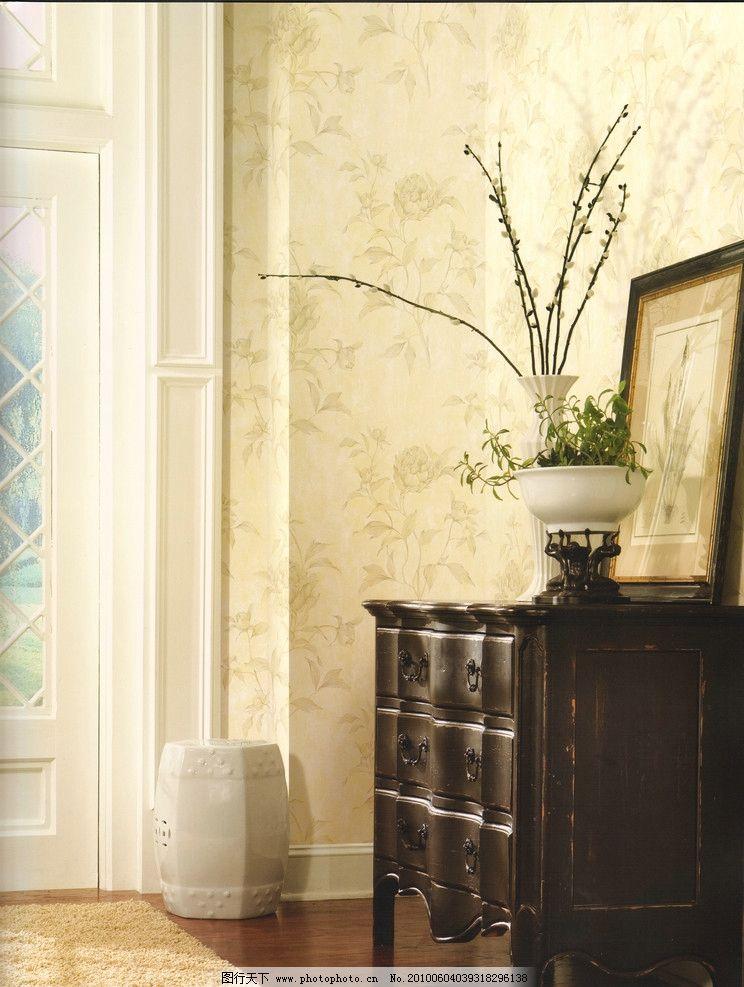 淡雅家居 壁纸 欧式 雅致 室内摄影 建筑园林