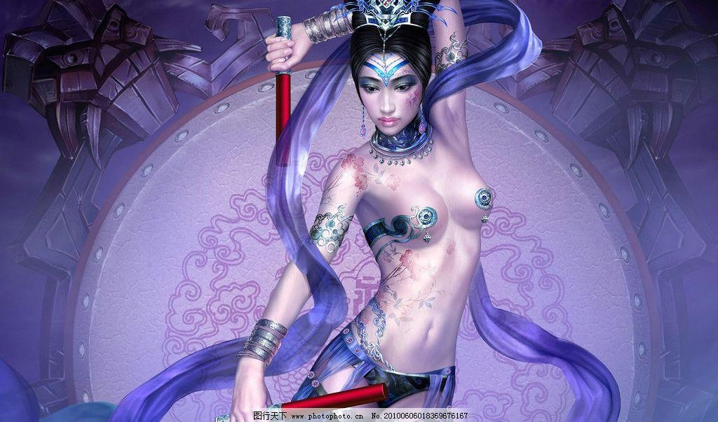 美女插画 美女 插画 长发 古代美女 高清美女 性感 漂亮 动漫人物