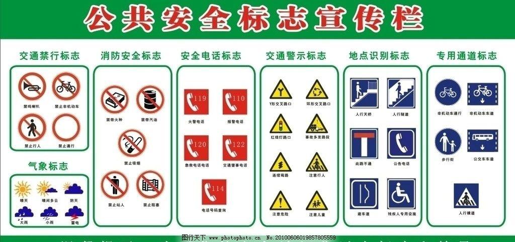 公共安全标志 校园文化 安全标志 宣传栏 展板 矢量 公共标识标志