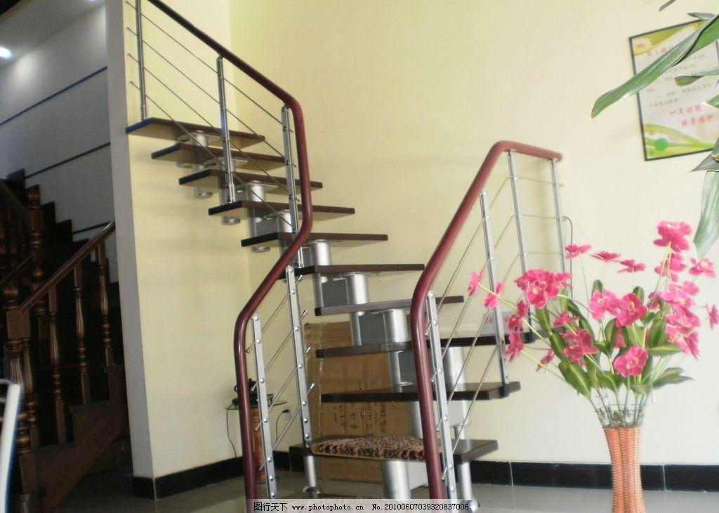 楼梯 花瓶和花 挂画 室内拍摄 室内摄影 建筑园林 摄影 314dpi jpg