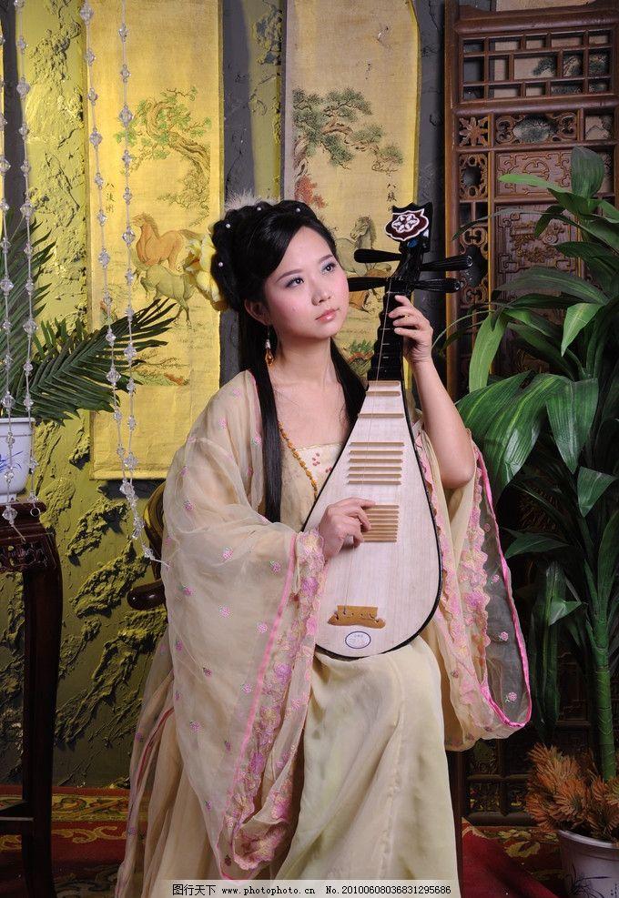 琵琶女子 古装 女子 琵琶 美女写真 古典美女 女性女人 人物图库 摄影