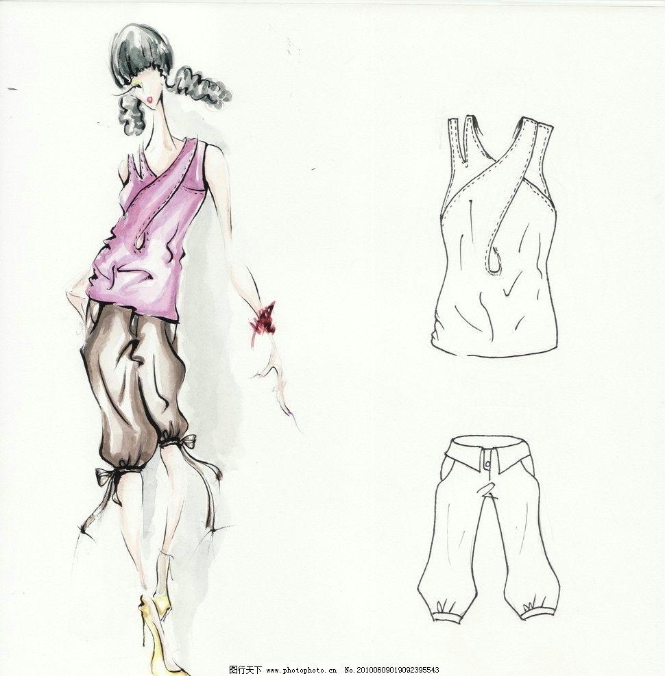 时装效果图 服装画