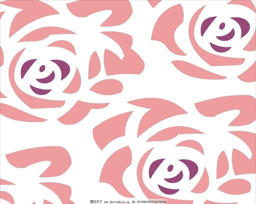 花形 花纹 玫瑰 矢量 素材 花纹花边 底纹边框 cdr