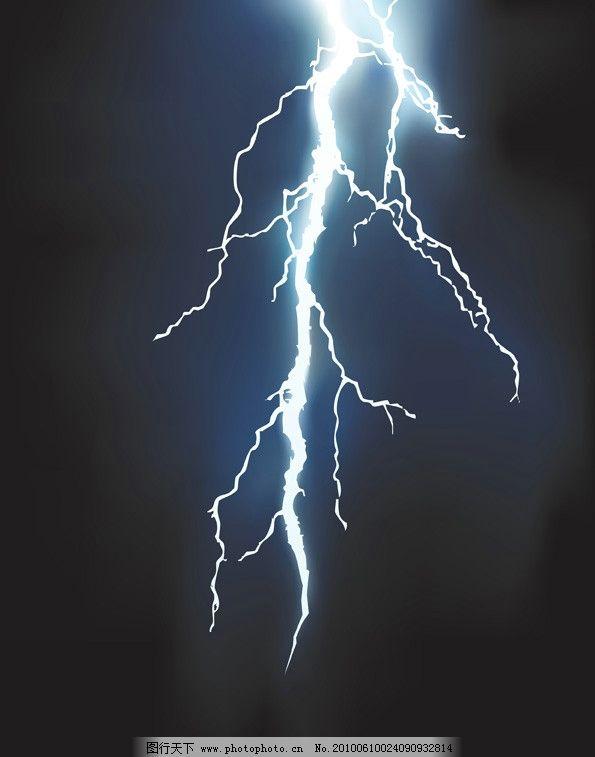 电闪雷鸣手绘人物