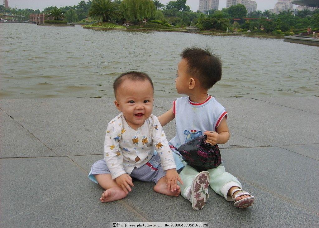 可爱小孩 小孩 可爱 风景 湖边 公园 玩 儿童 儿童幼儿 人物图库 摄影