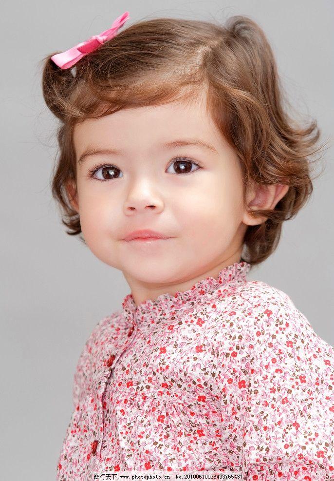 可爱的西方小女孩 可爱 西方 女孩 儿童 蝴蝶结 国外 儿童幼儿 人物