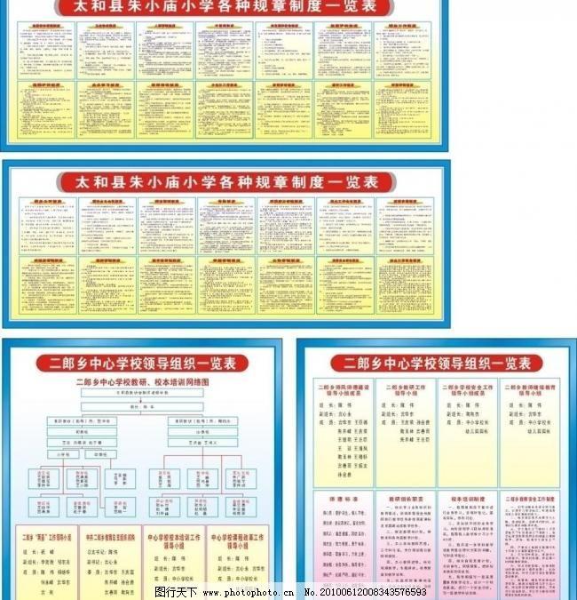图书室制度 校本教研制度 矢量文件系列 广告设计 矢量 cdr 展板 其他