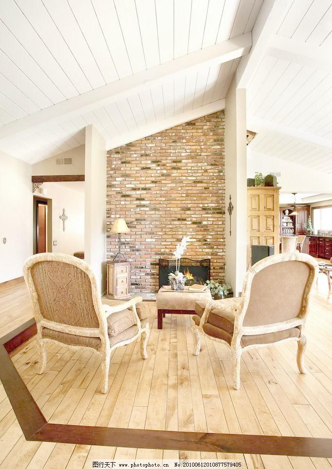 田园风格欧式客厅一角图片