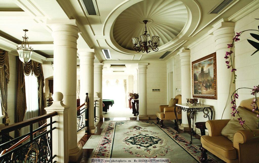 室内 室内设计      大厅 休闲 豪华 金色 欧式风格 西方 场景 摄影
