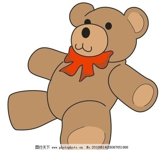 小毛熊 小猫熊 装饰品 儿童画 可爱 卡通 棕色 广告 矢量