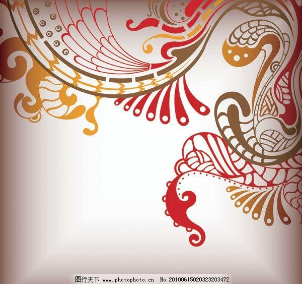 凤凰花纹矢量素材图片