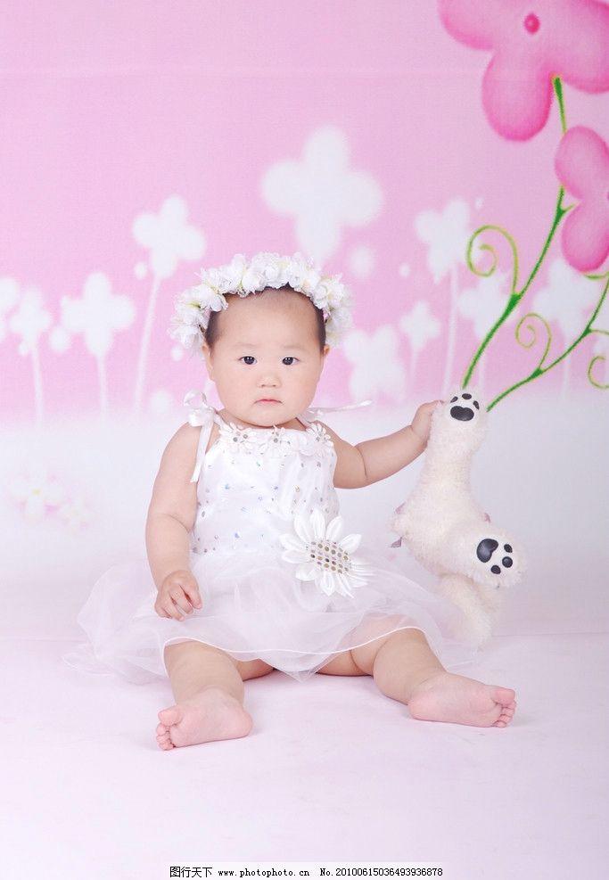 可爱宝宝 宝宝 小宝宝 儿童 鲜花 小孩 婴儿 矢量 儿童幼儿 人物图库