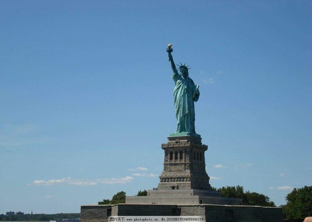 世界 旧金山/纽约自由岛 自由女神像图片