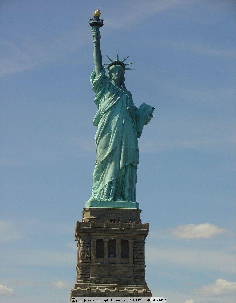 世界 纽约/纽约自由岛 自由女神像图片
