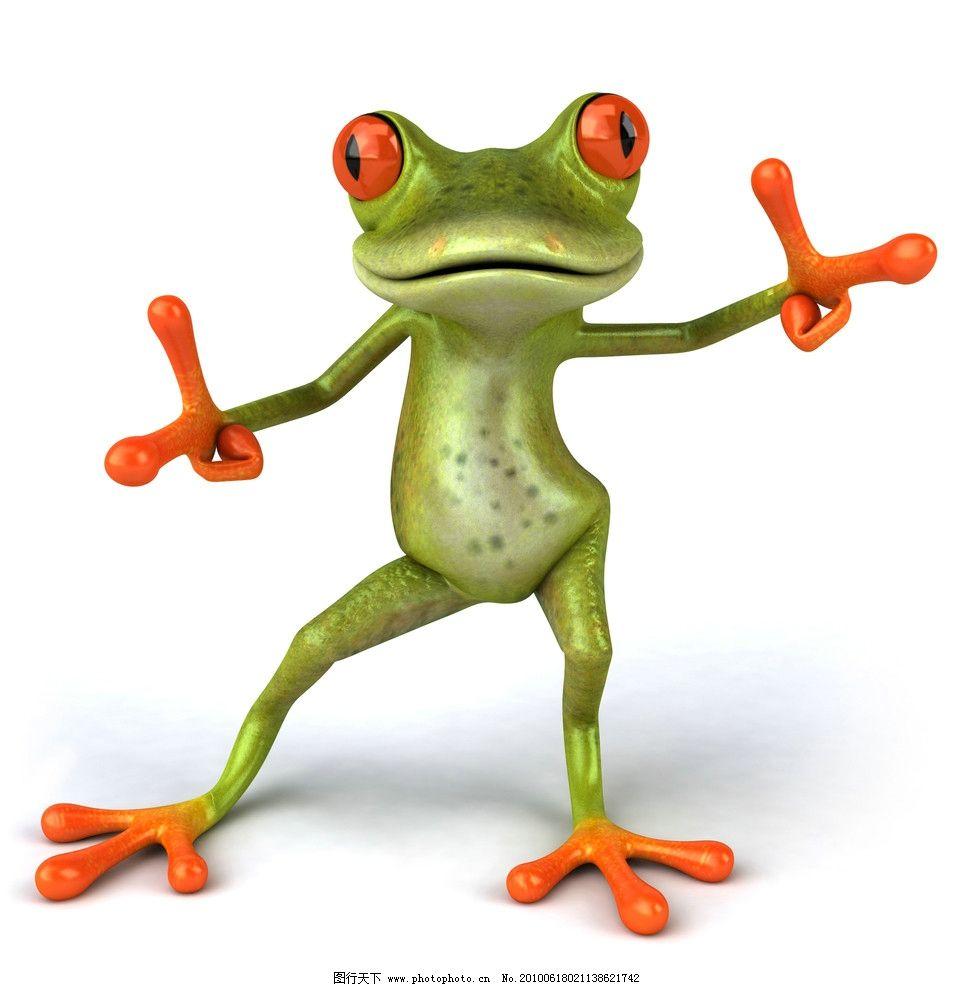 3d青蛙图片,卡通青蛙 疯狂青蛙 可爱逗趣青蛙 创意-图