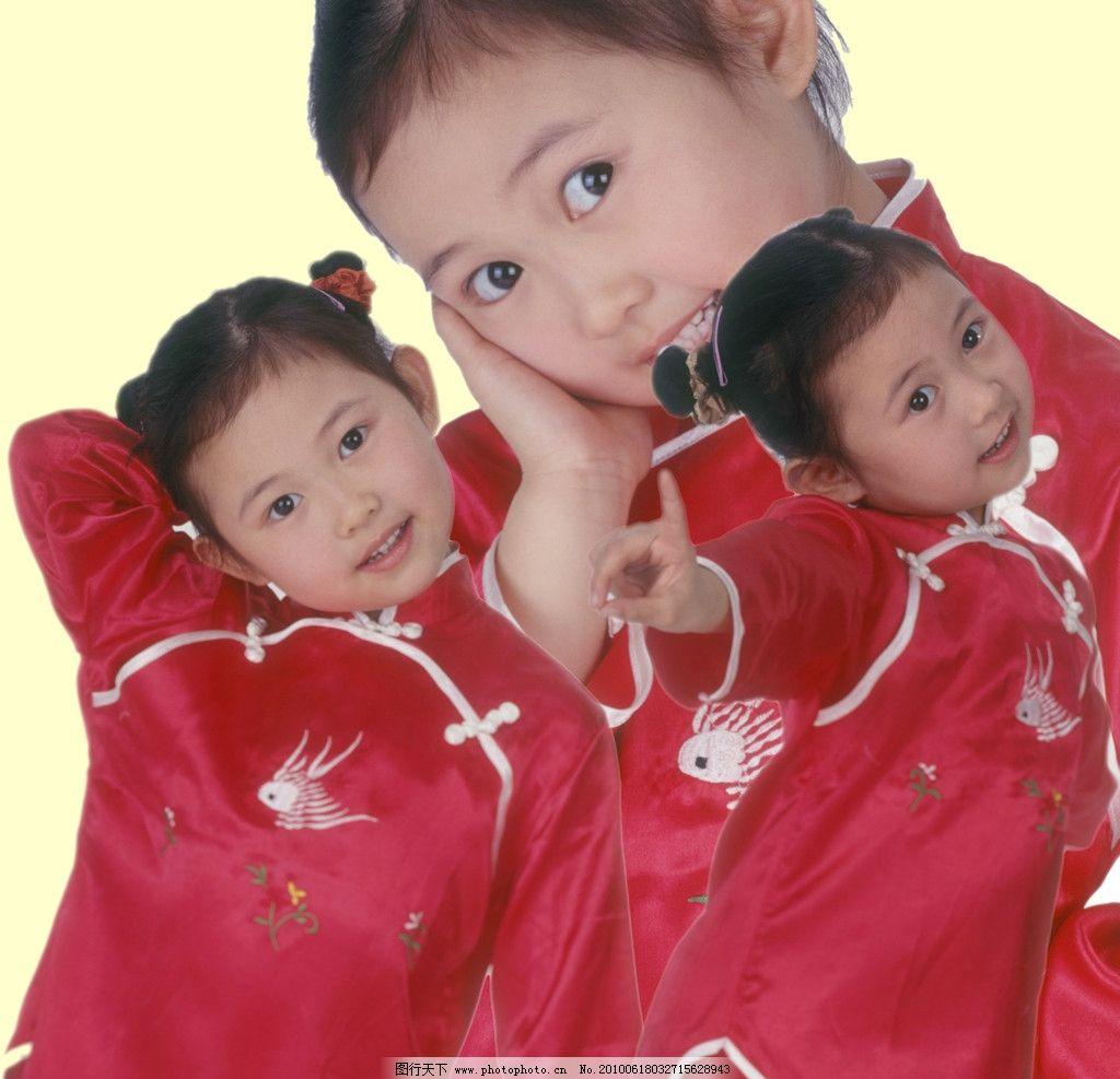 儿童 小孩 女孩 姿势 手势 头花 可爱 天真 幼儿 少儿 源文件