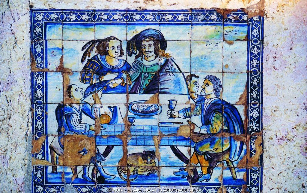 欧洲风格壁画 欧式 欧洲风格 瓷砖 壁画 墙画 墙纹理 纹理 欧洲 传说