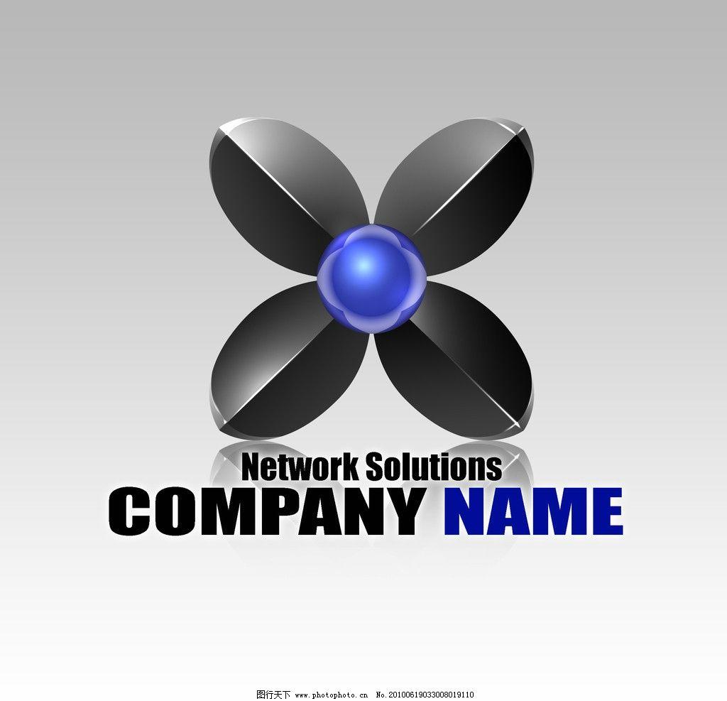 商标logo 商标logo 3d 圆形 公司商标 三维 立体 psd分层素材 其他 源