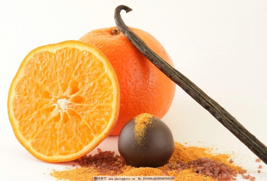 橙子 橘子 桔子 橙 桔 百香果 果子 果汁 水果 粉末 生物世界 摄影