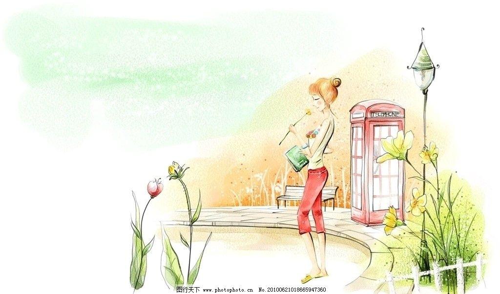 韩国插画图片