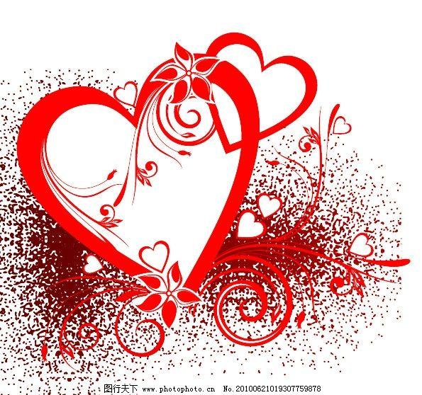 爱心素材 源文件 节日 情人节 浪漫 红色 纹样 激情 可爱 节日素材