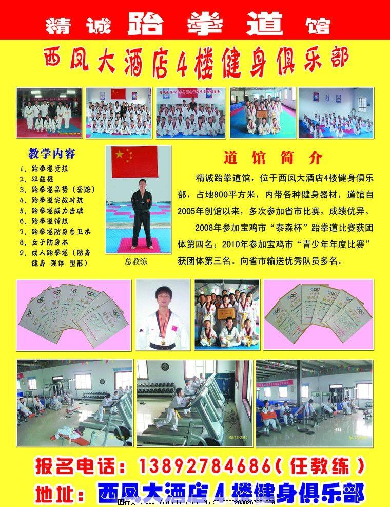 跆拳道彩页图片