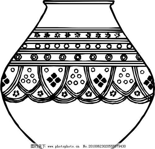 陶瓷花纹 底纹 花盆 罐 陶瓷 青花瓷 条纹线条 底纹边框 矢量 eps