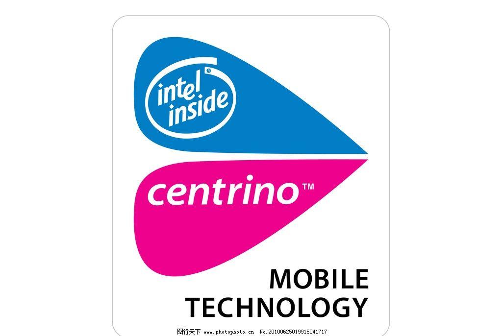 迅驰 矢量logo intel 英特尔 centrino      移动 技术 矢量logo 企业