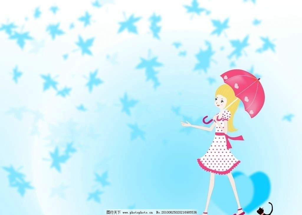 可爱图片 小女孩背景图