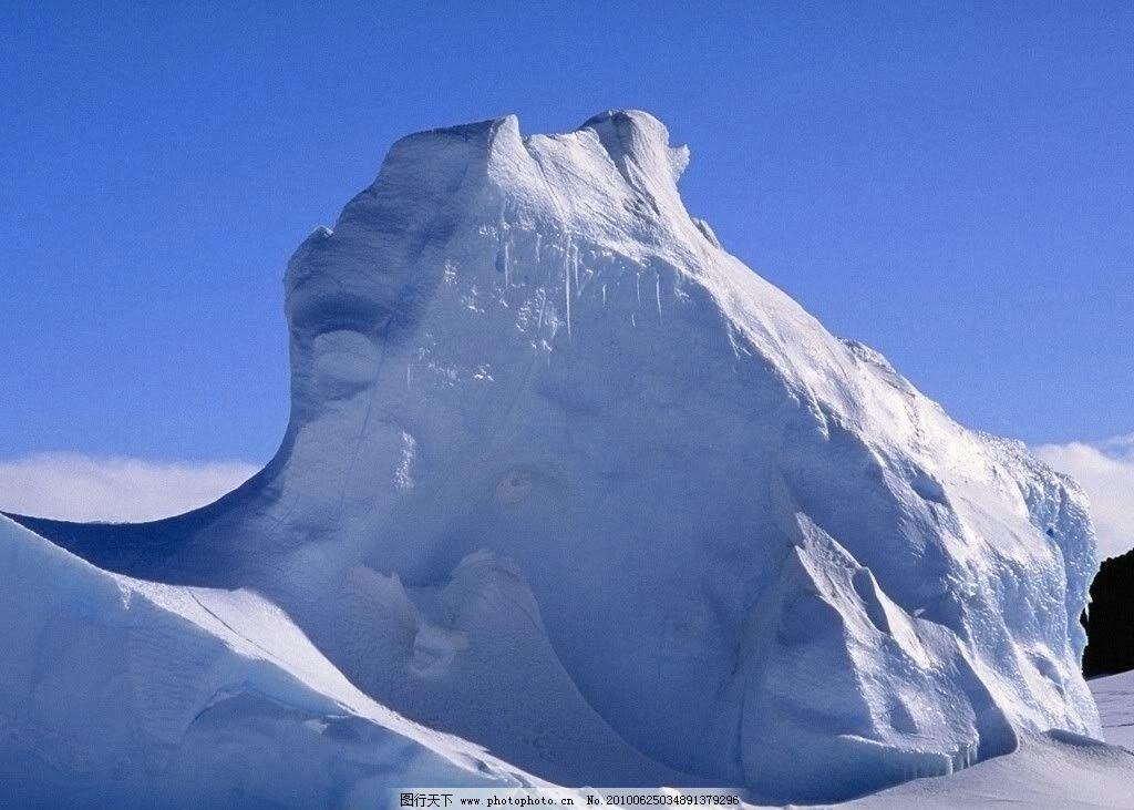 冰山 冰雪 蓝天 北极 寒冷 自然风景 自然景观 摄影