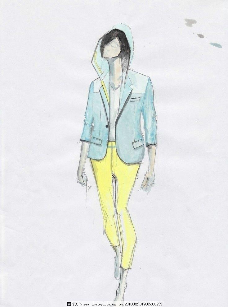 时装画 服装画 手绘时装画 手绘人物 男装效果图 男装 绘画书法 文化