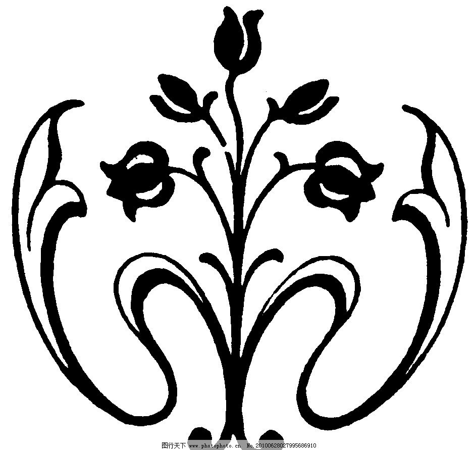 黑白装饰图案 黑白 装饰 图案 花 纹理 l黑白装饰图案 室内设计 环境