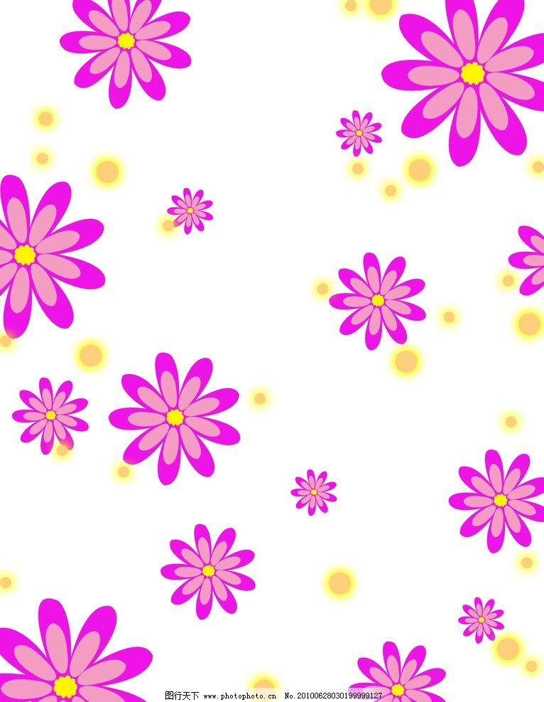 移门小花朵 圆点 简单花纹 广告设计 移门图案 广告设计模板 源文件