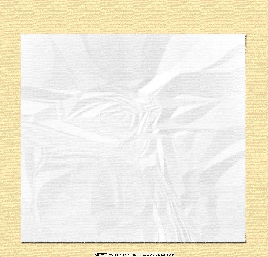 白纸 纸 空白纸 褶皱 褶皱的纸 展板模板 广告设计模板 源文件 300dpi