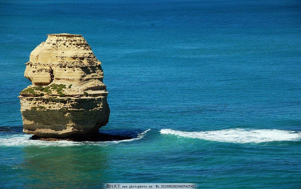 蓝色/蓝色海洋礁石图片
