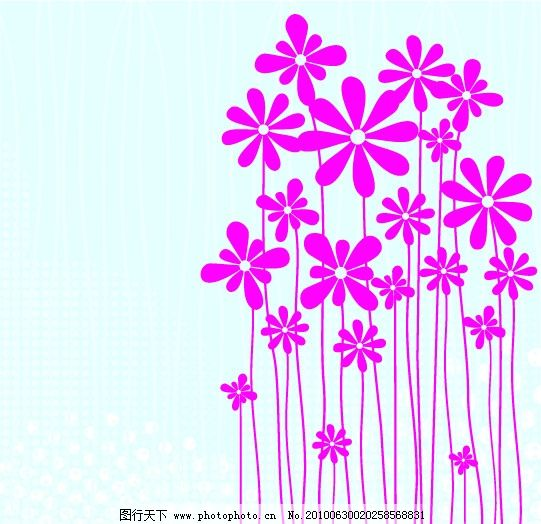 手绘花朵 矢量素材 可爱 花朵 花纹 手绘 线描 素描 花纹花边 底纹